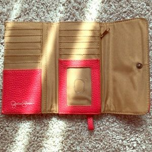 Coral Jessica Simpson Wallet With Bow